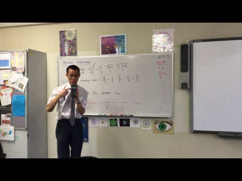 Y10 Review Questions (Surds, Fractions, Number Lines)