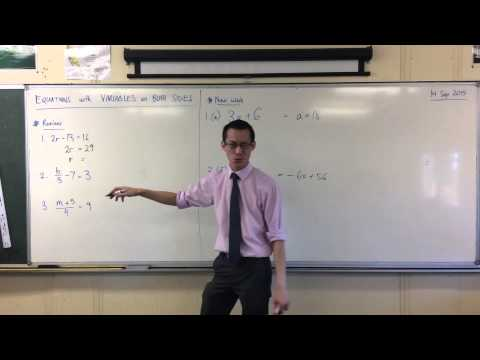 Solving Simple Linear Equations (Quick Questions #1)