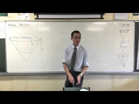 Volume within a Cone (1 of 3: Separating variables and constants for differentiation)
